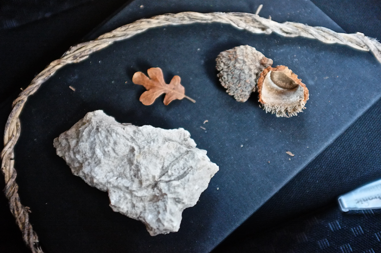 My field journal with items found at Fort Parker State Park between Groesbeck and Mexia, TX, February 2014