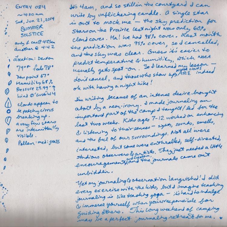 June 21 Journaling